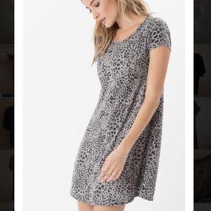Adorable gray cheetah print dress